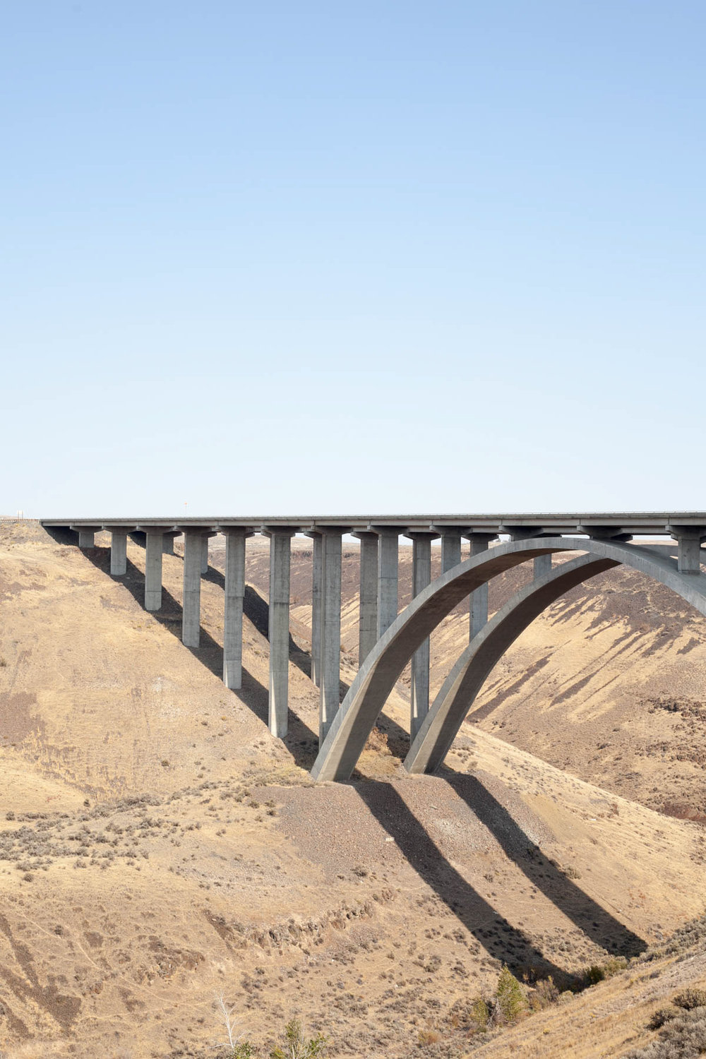 "Selah Creek Bridge – 1971 winner of the ""excellence in the use of concrete"" award.  Hwy 82, Yakima County, Washington"