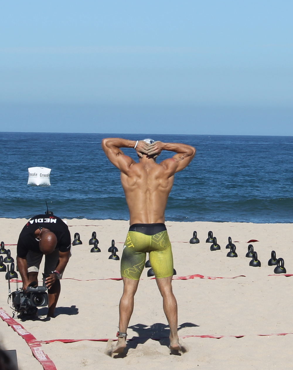 Winner of Event 1 at the beach, Jordan Troyan, has not been neglecting his back work