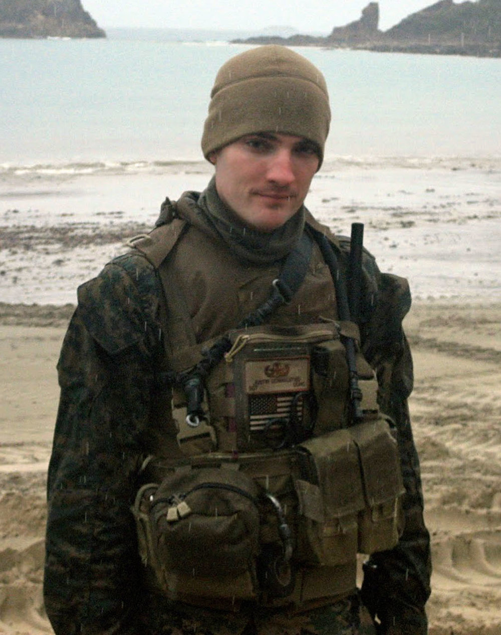 U.S. Marine Corps Staff Sergeant Justin E. Schmalstieg, 28, of Pittsburgh, Pennsylvania, assigned to the 1st Explosive Ordnance Disposal Company, 7th Engineer Support Battalion, 1st Marine Logistics Group, I Marine Expeditionary Force, based in Camp Pendleton, California, died on December 15, 2010 while conducting combat operations in Helmand province, Afghanistan. He is survived by his wife Ann Schneider, parents John and Deborah Gilkey, and brother John.