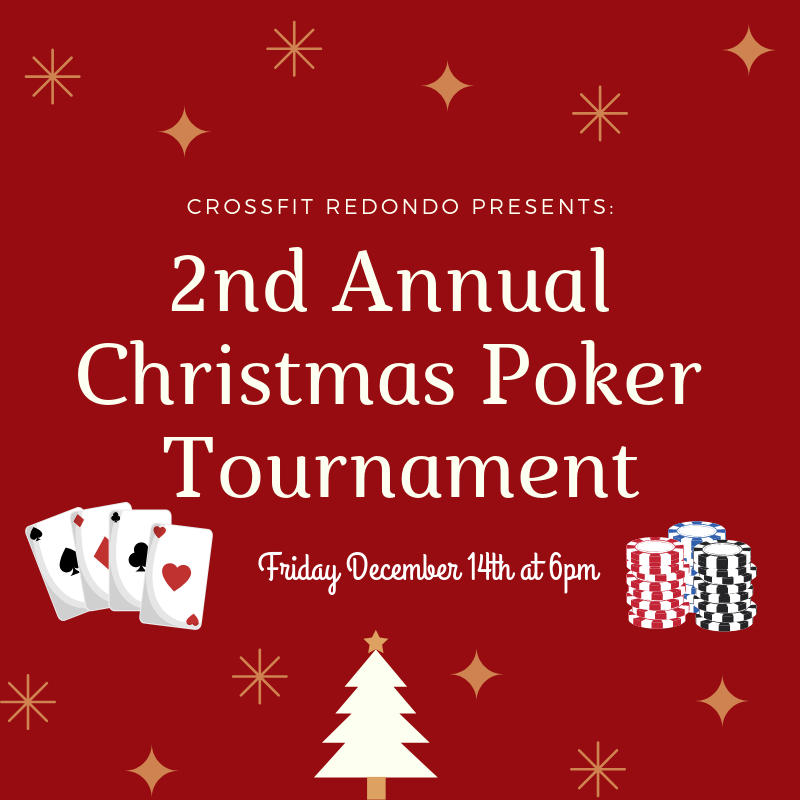 Details for Holiday Party/Poker Night at CFR  Special Gym Schedule:  6am, Noon, 3, 4, and 5pm  6pm: Party Begins!  Party goers may mingle and have a few drinks prior to the start of poker. Beer and Wine will be provided but please feel free to bring your favorite Holiday-themed drinks! Ugly Christmas sweaters and the like are highly encouraged!  7pm-ish: Poker Begins!  Even if you are not a poker player we invite you to stay and continue to drink and be merry! The tournament will be set up in a way that participants will be out of the game at different times and back to socializing with group!  10pm-ish- take the party to any number of fine establishments including Pat's 2, Bullpen, or even Las Vegas