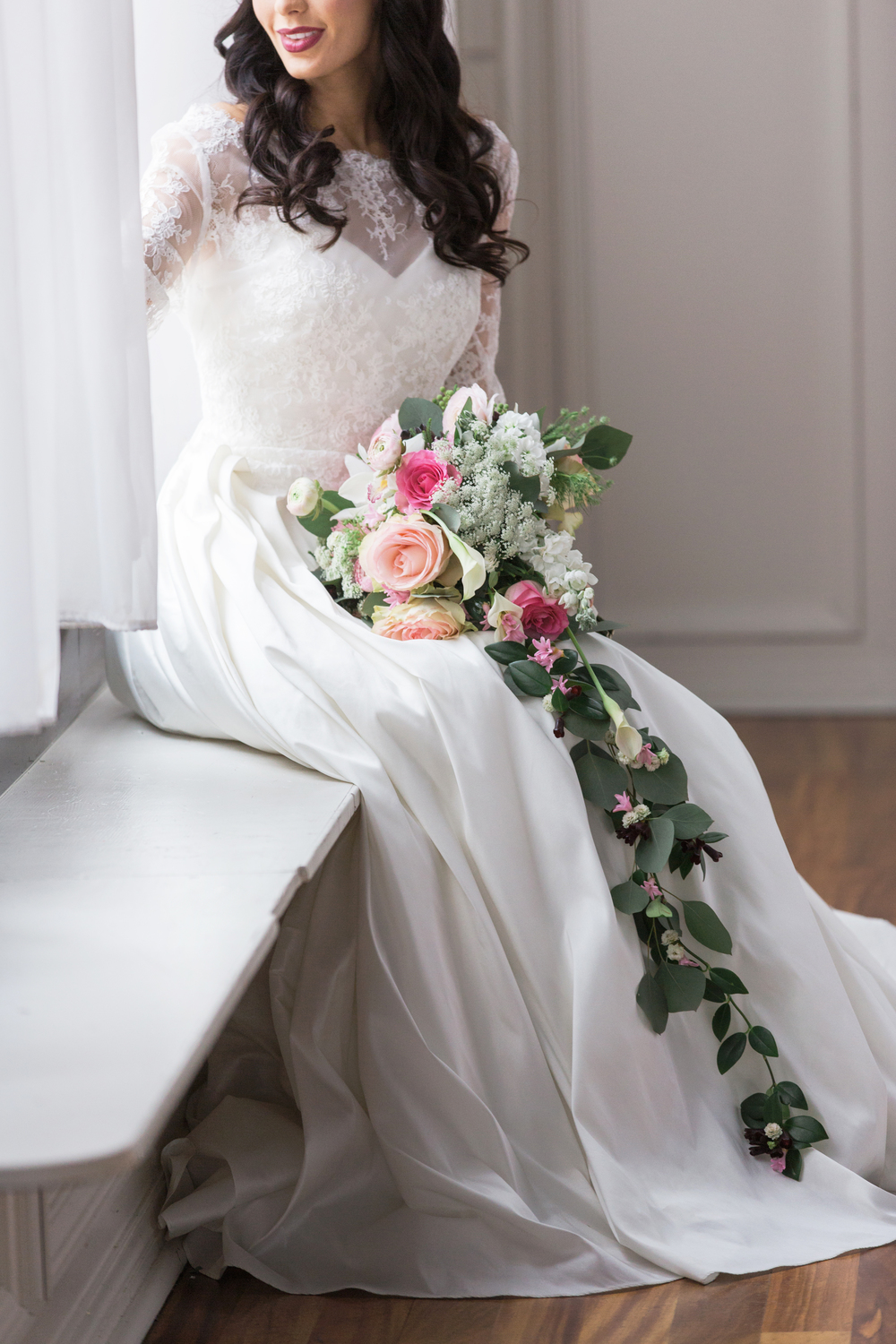 Photo by L Photographie | Floral by Stems | Stella York Gown from Signature Bridal