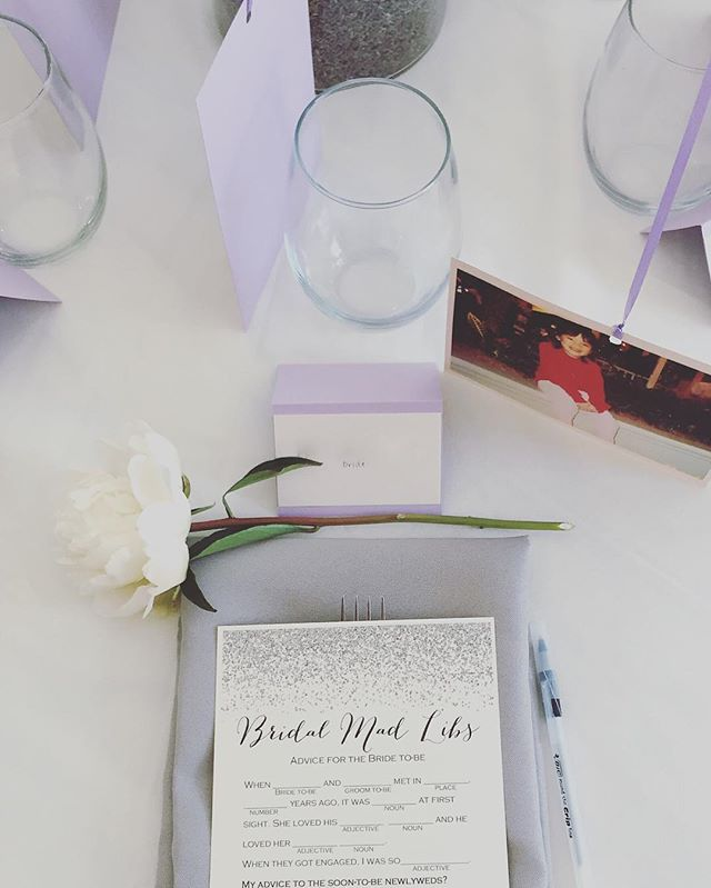 A beautiful bridal shower for our June bride! #love #privateparties #eventplanner #stleventplanner #sfeventplanner #weddingcoordinator #weddingplanner #stlevents #privatecatering #partofthefam #startup #love #weddings #bridalshower #lavender #madlibs #peonies