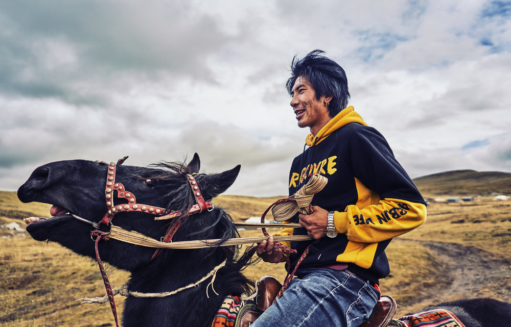 Dugya Bum on Horseback