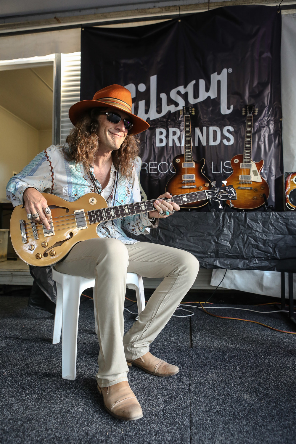 richard turner (blackberry smoke), backstage in the gibson tent