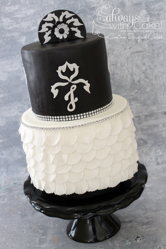 Mod Black and White Wedding Cake