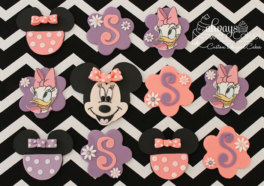 Minnie and Daisy Cupcake Toppers