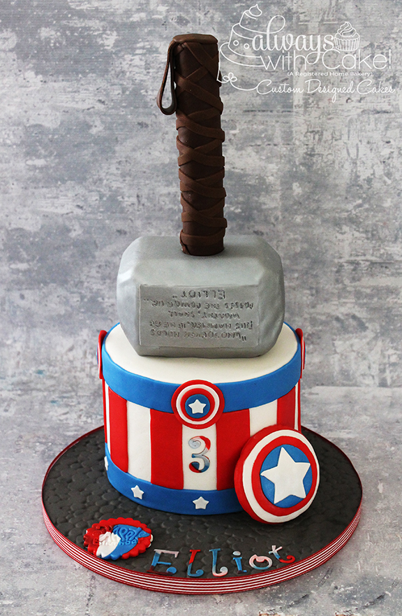 Captain America & Thor Birthday Cake