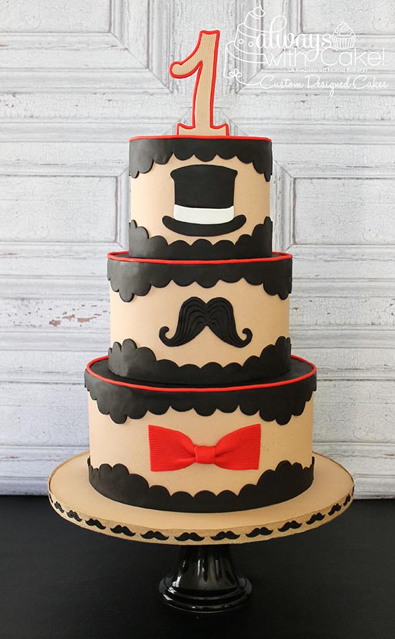 Lil' Man 1st Birthday Cake