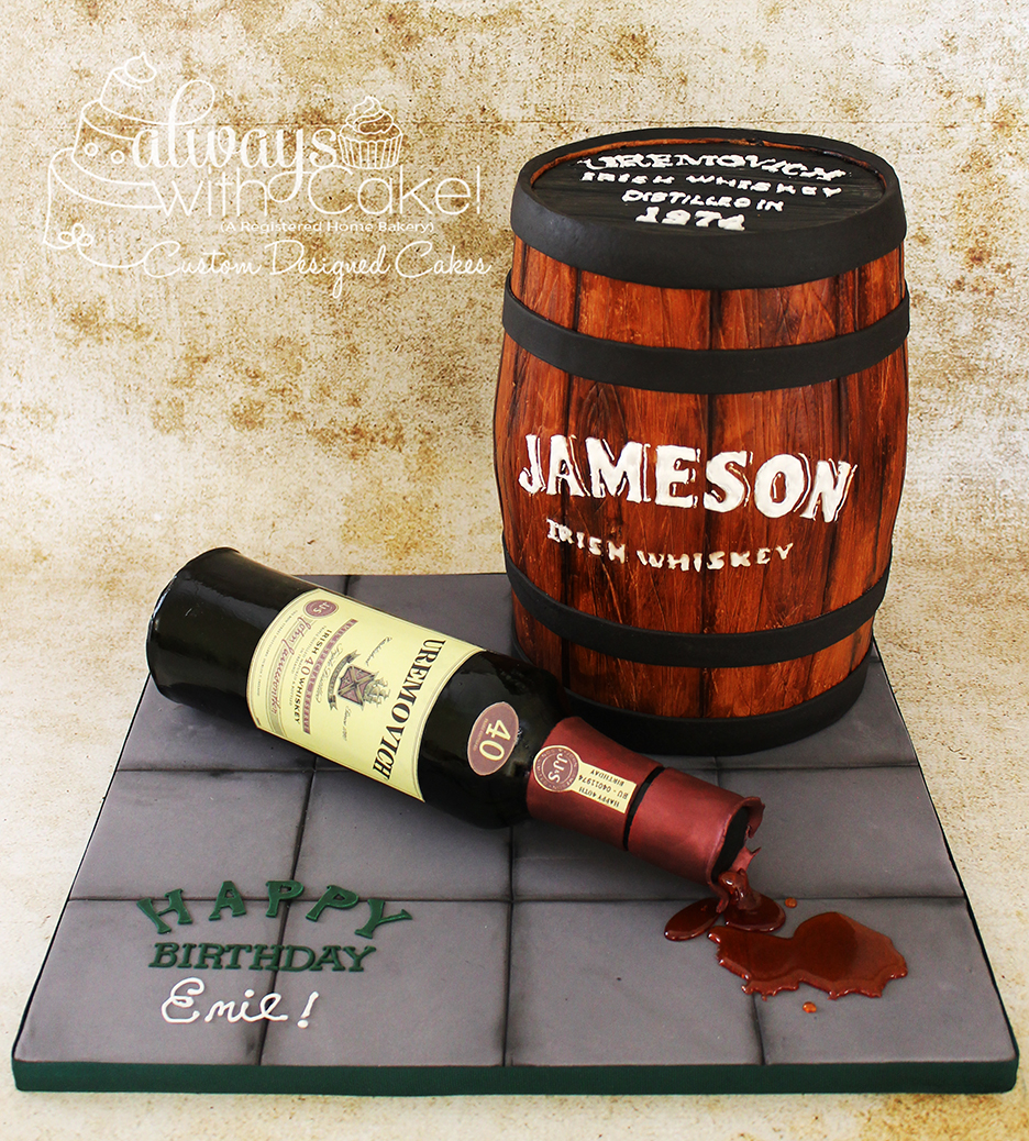 Jameson Whiskey 40th Birthday Cake