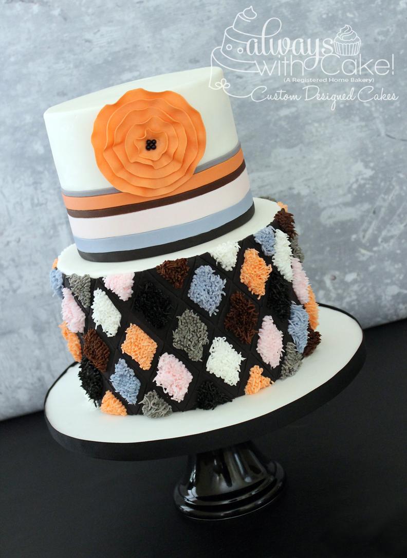 Inspired Rug Design Cake