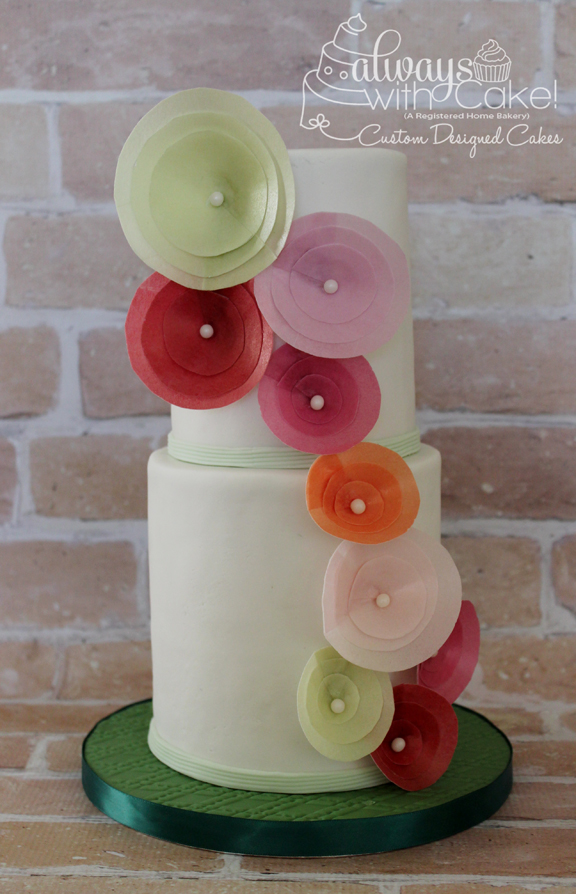 Chic Wafer Paper Flower Cake