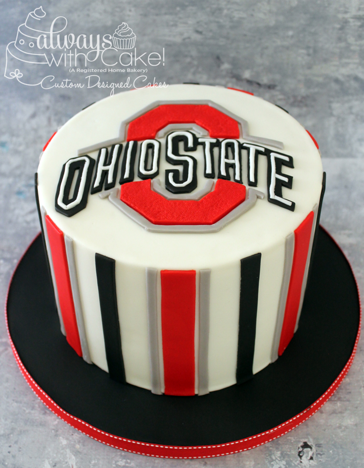 Ohio State Birthday Cake
