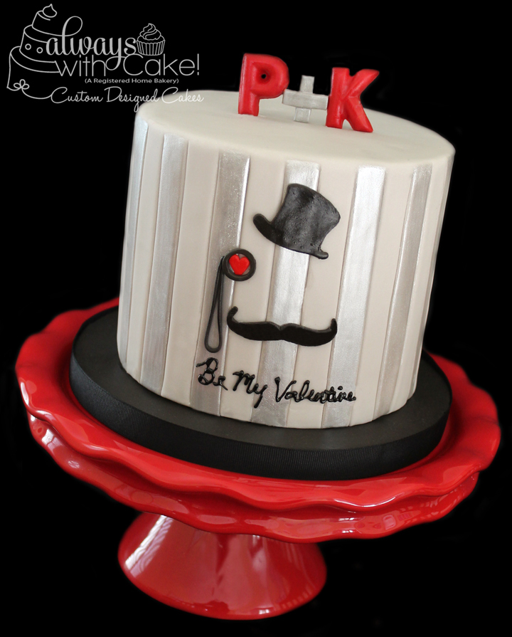 Hat's Off To You Valentine's Day Cake