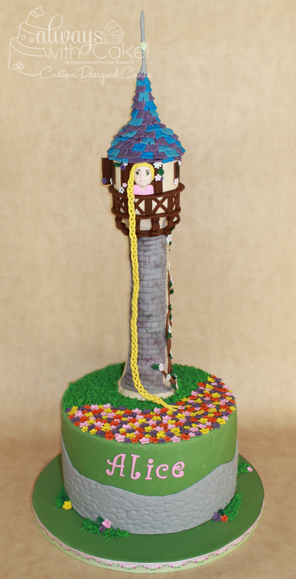Rapunzel Tower Birthday Cake