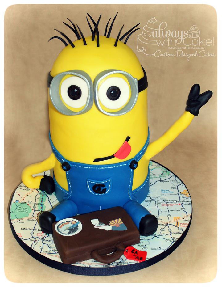 Traveling Minion Cake