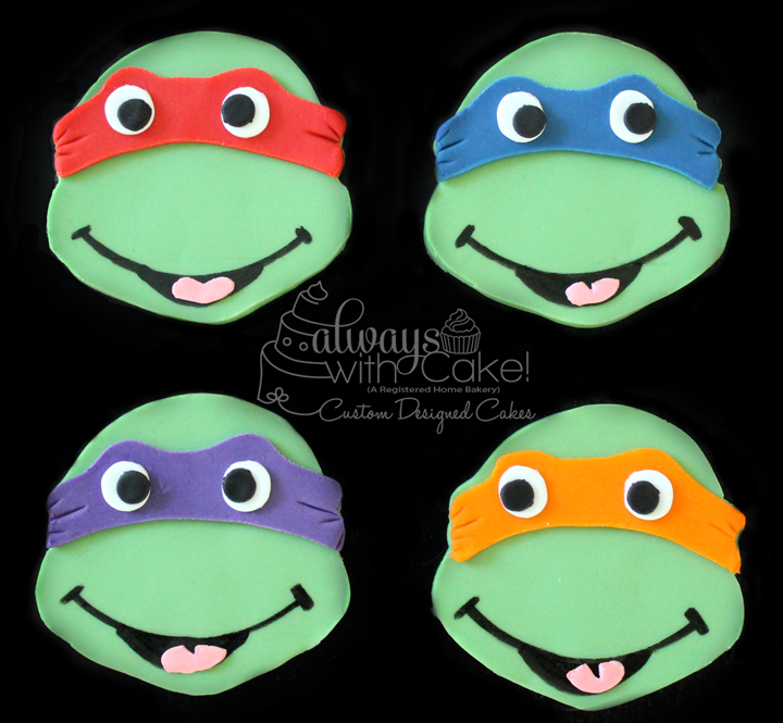TMNT Cupcake Toppers