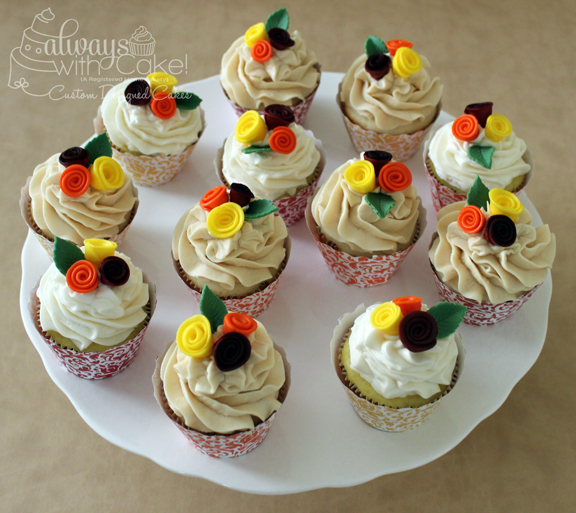Fall Wedding Cupcakes