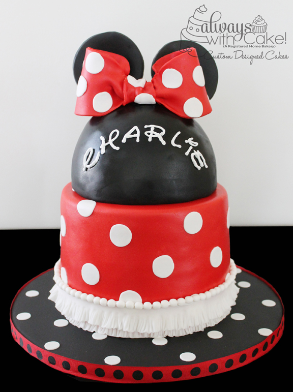 Minnie Baby Shower Cake