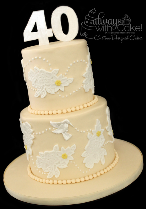 Lace Anniversary Cake