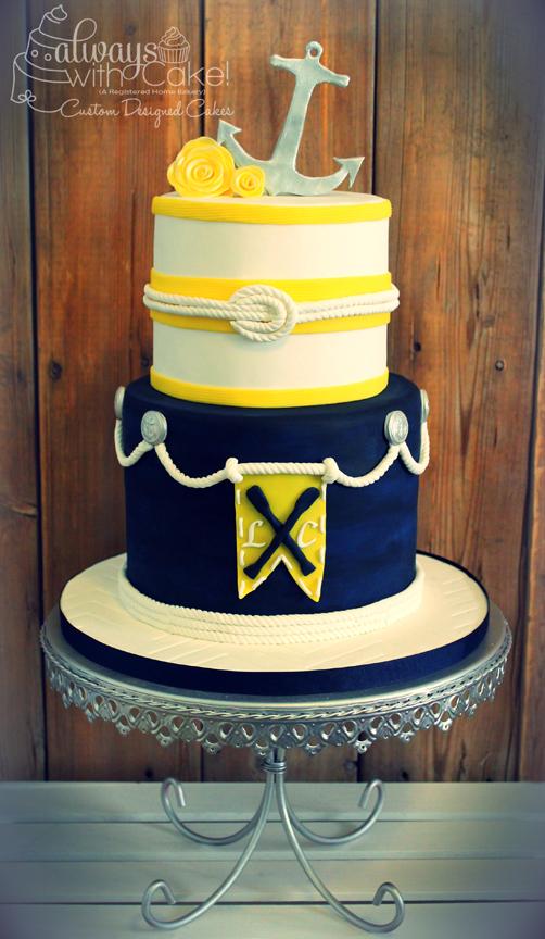 Nautical Engagement Cake