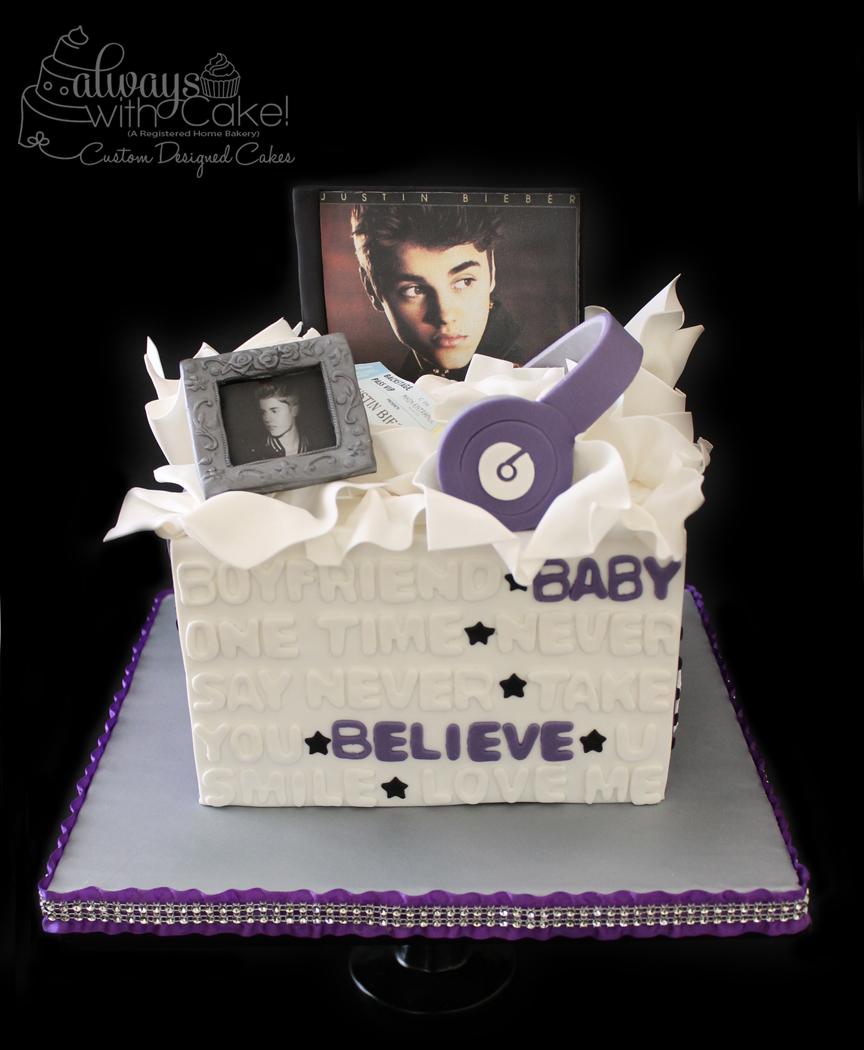 Icing Smiles - Justine Bieber Birthday Cake