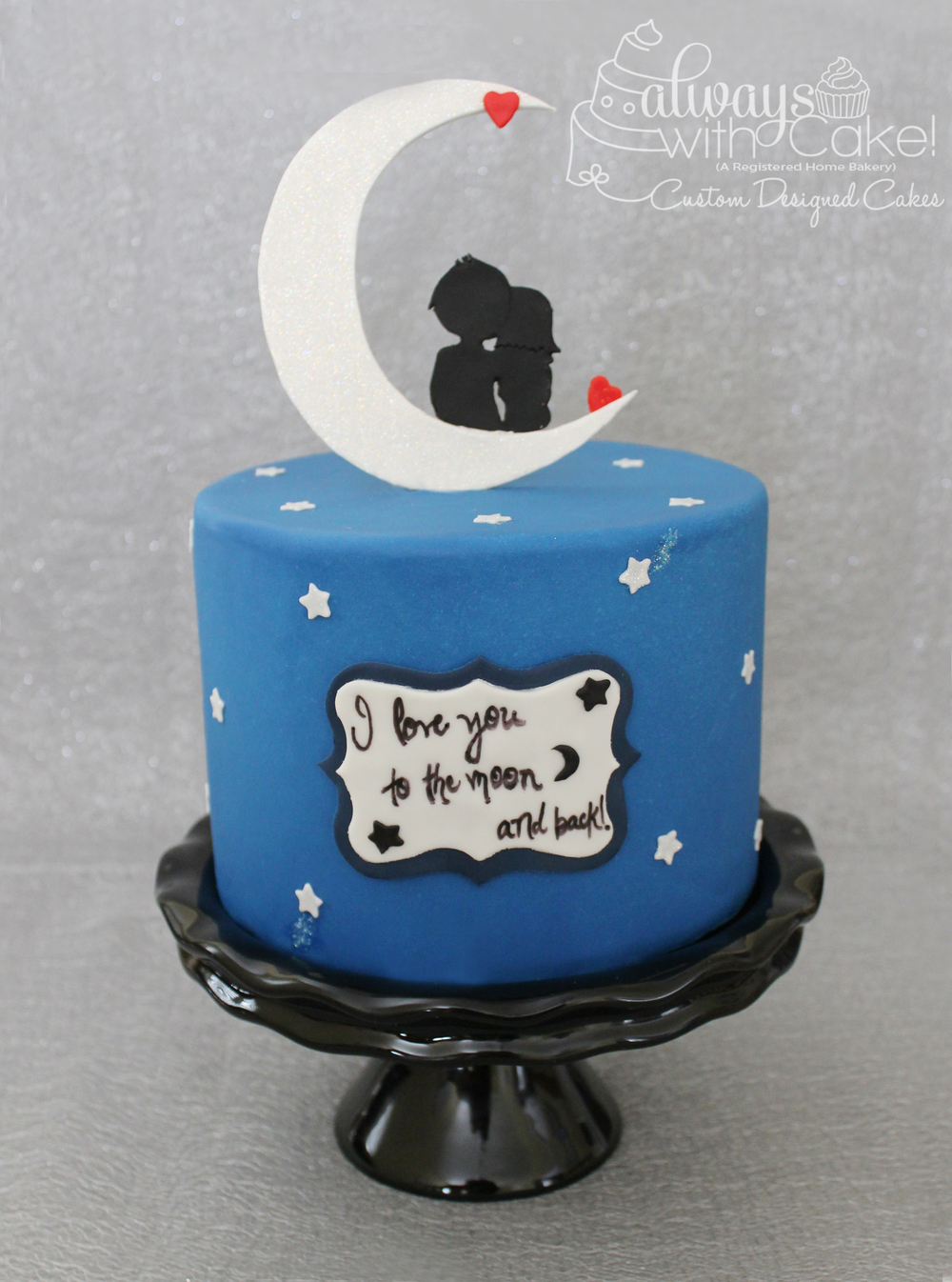 To the Moon and Back Anniversary Cake