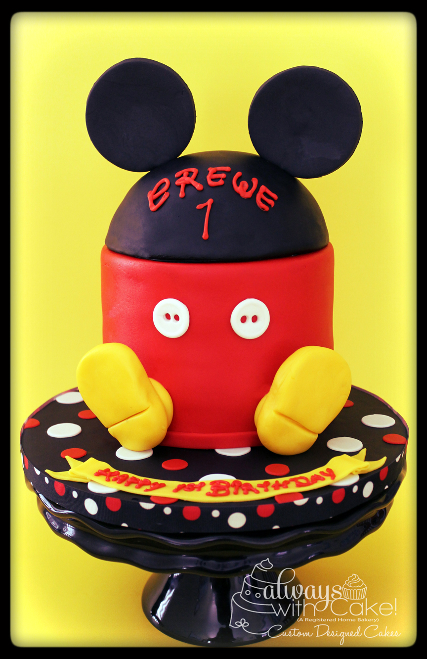Mickey 1st Birthday Smash Cake