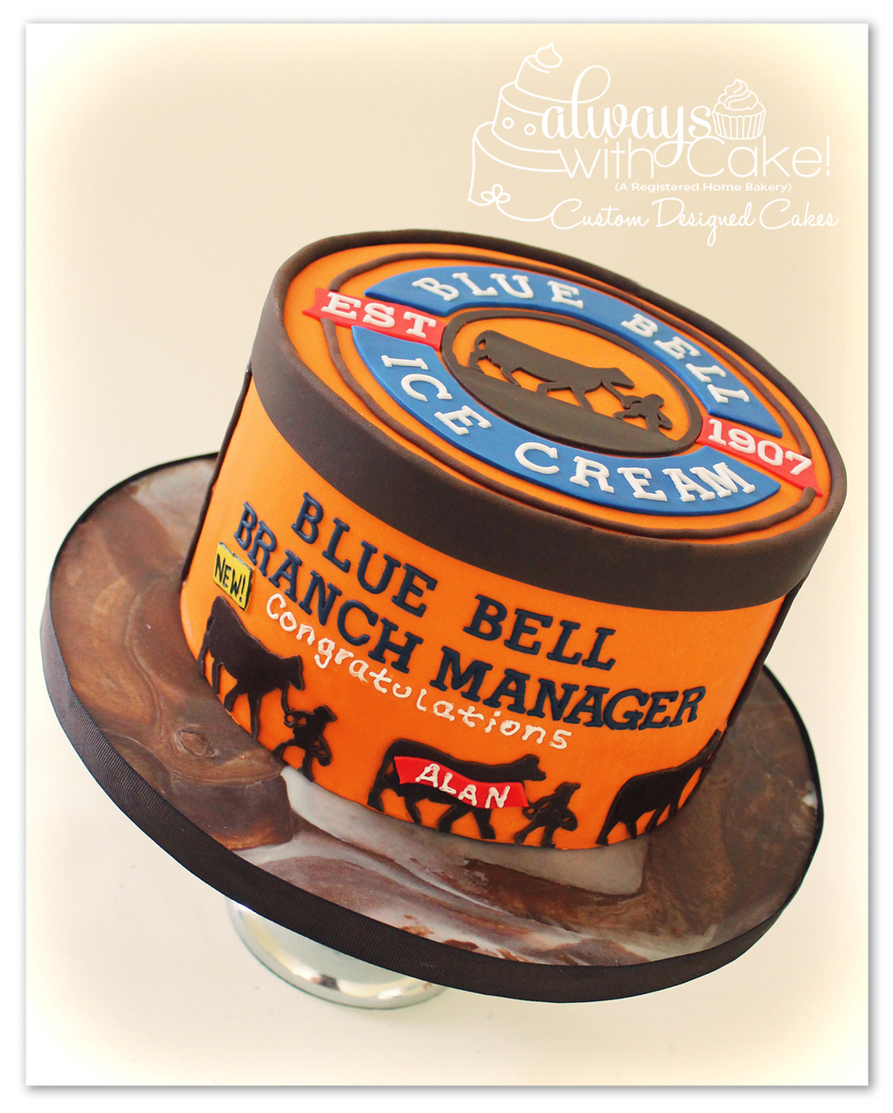 Blue Bell Ice Cream Tub Cake