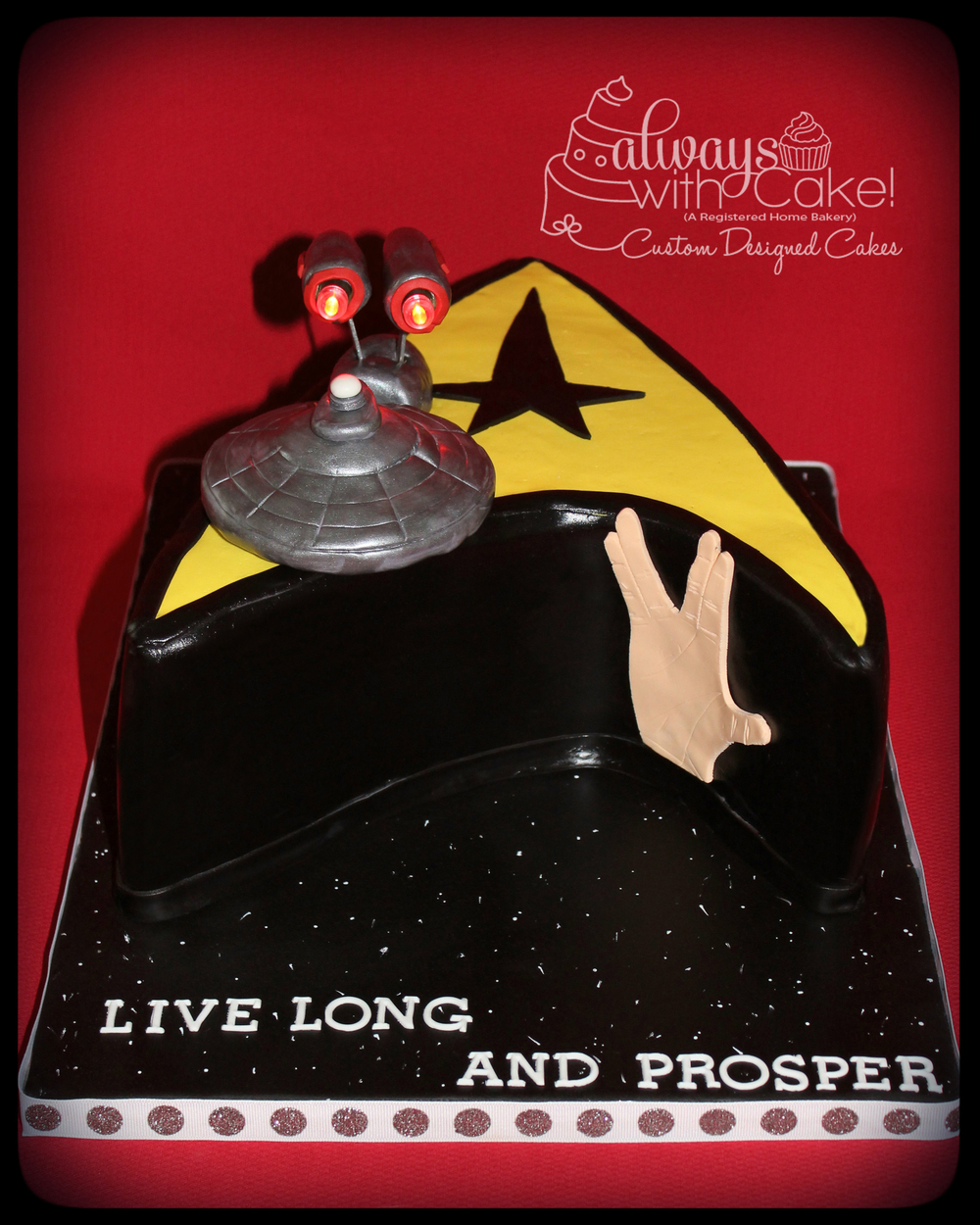 Startrek Birthday Cake