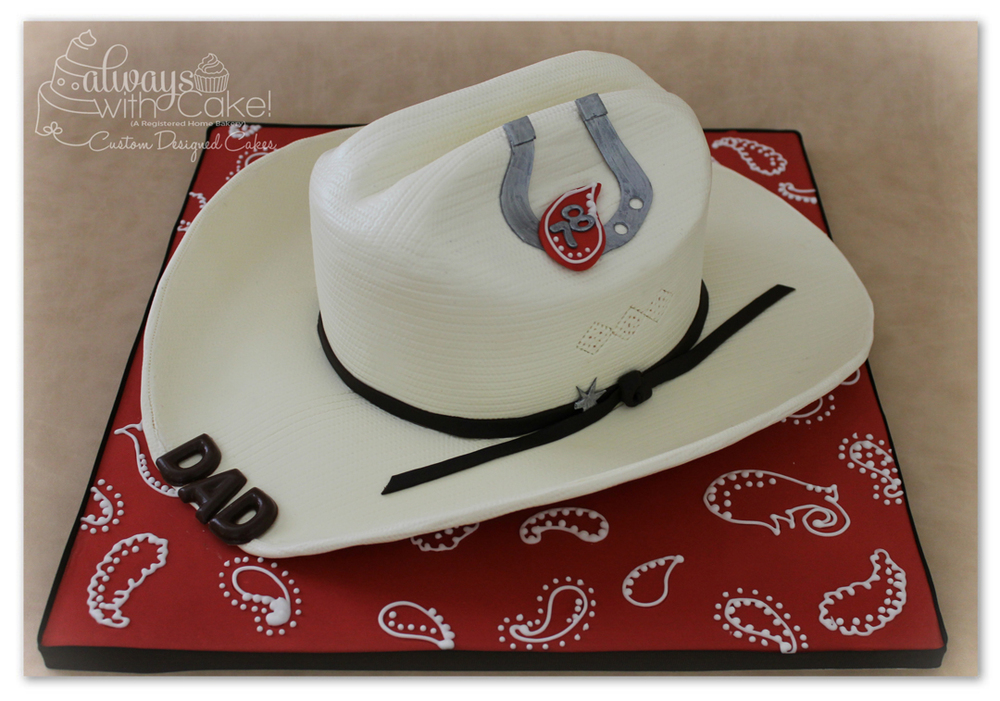 Cowboy Hat Birthday Cake