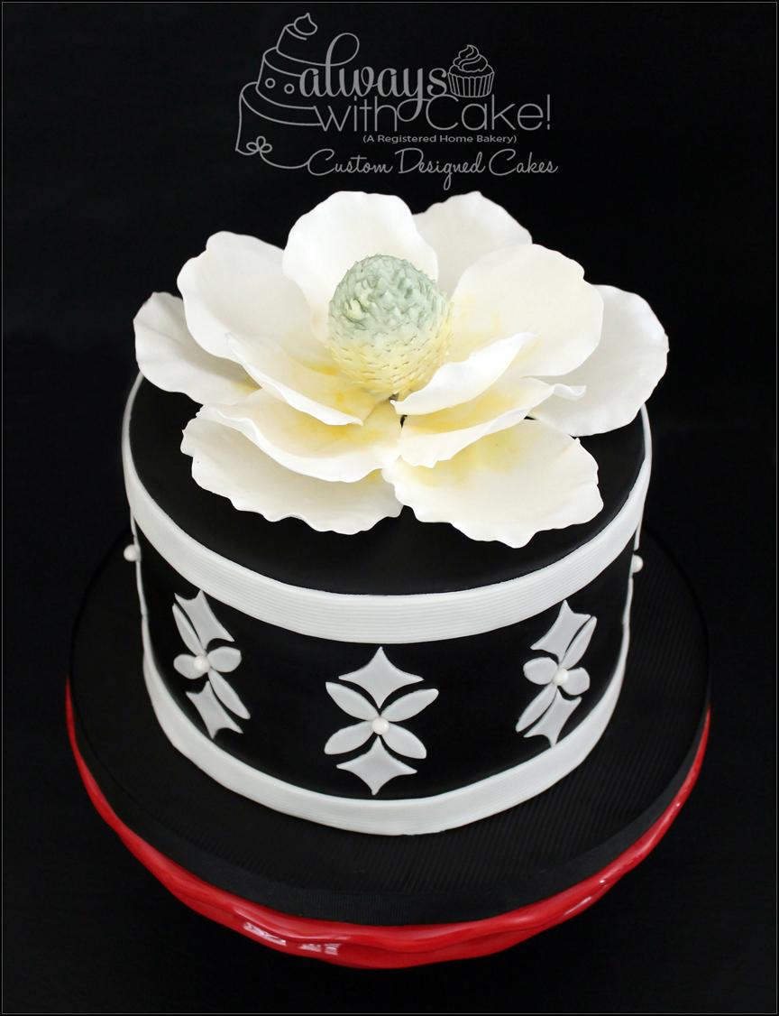 Magnolia Thank You Cake