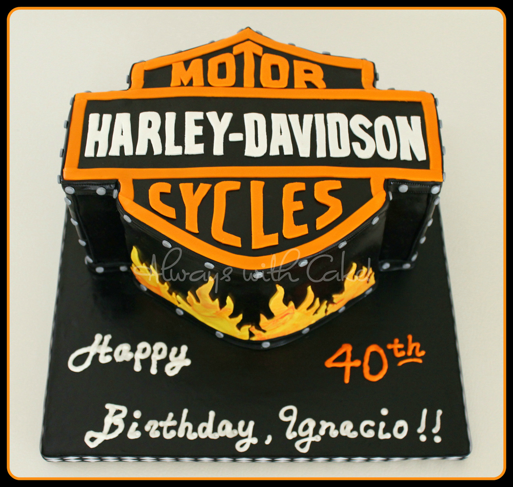 Harley Davidson 40th Birthday Cake
