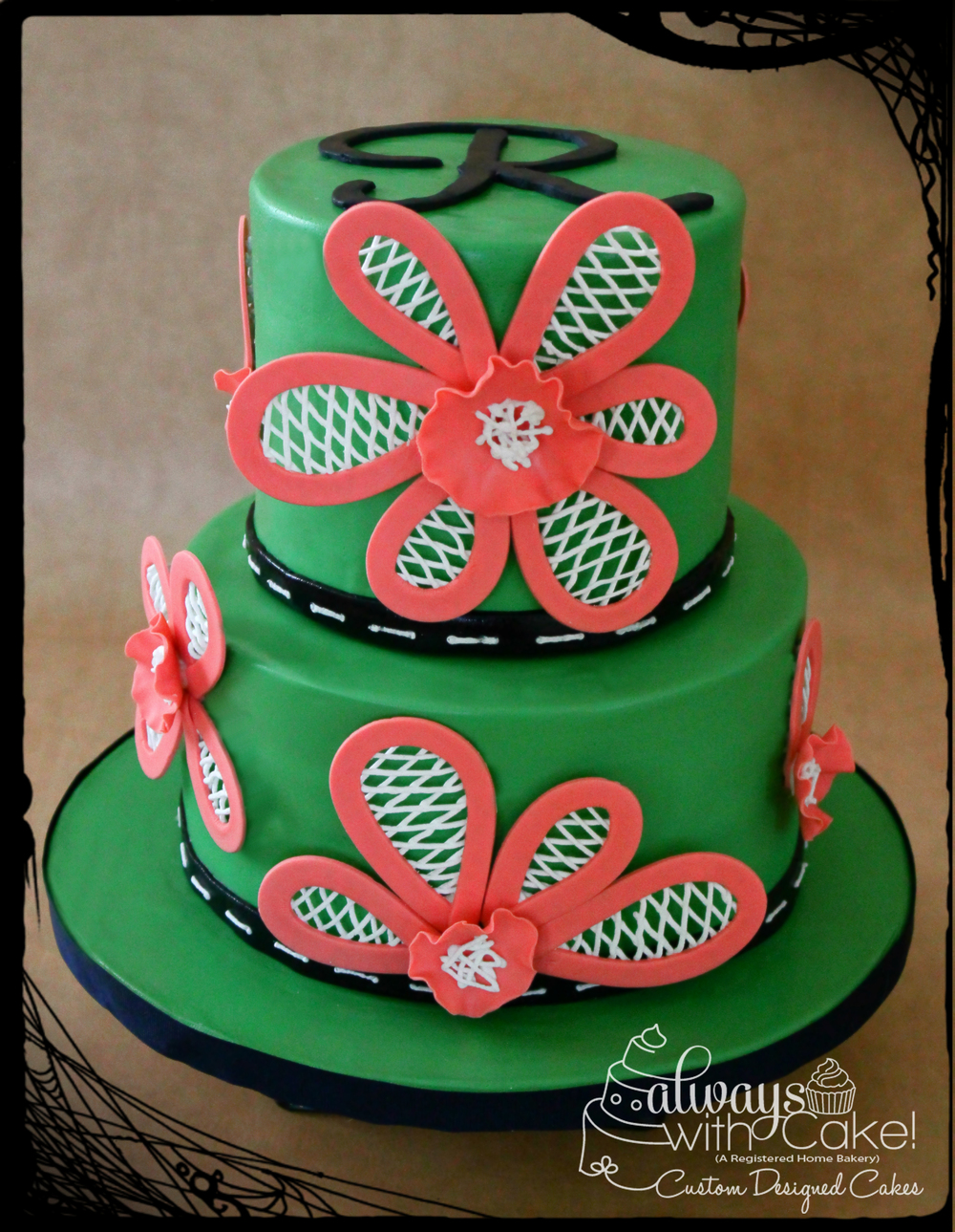 Lattice Flower Cake