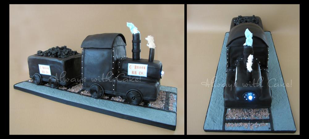 Steam Engine Train Birthday Cake