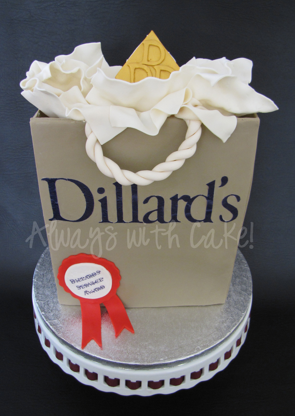 Dillards Shopping Bag Cake