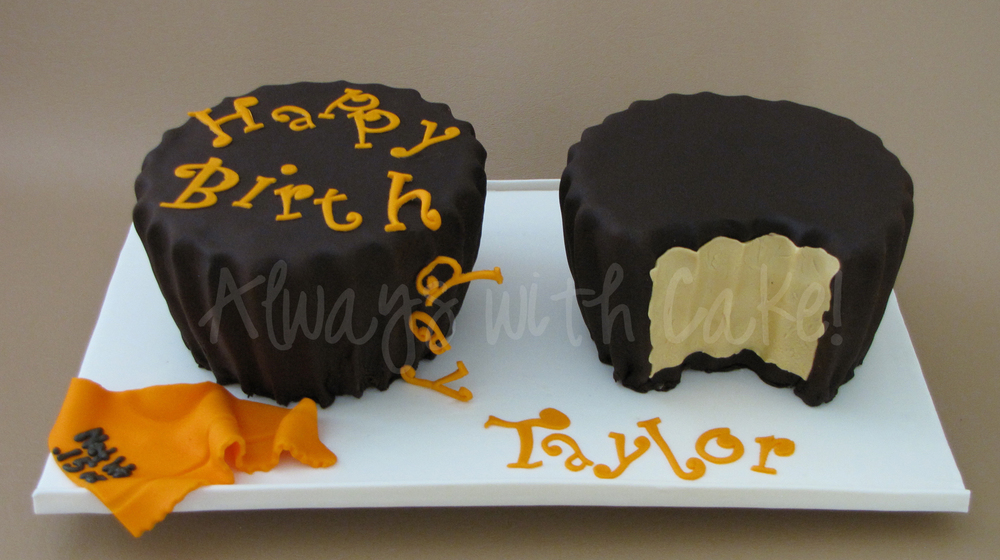 Reeses Peanut Butter Cups Birthday Cake