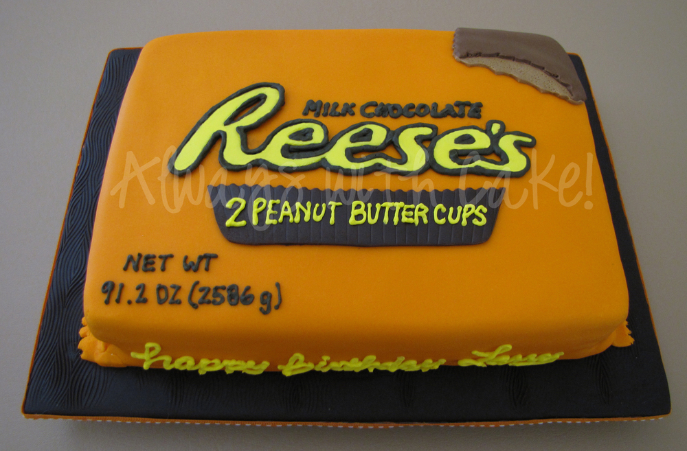 Reeses Birthday Cake