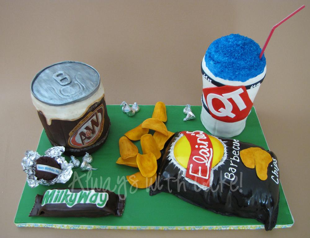 Junk Food Junkies Birthday Cake
