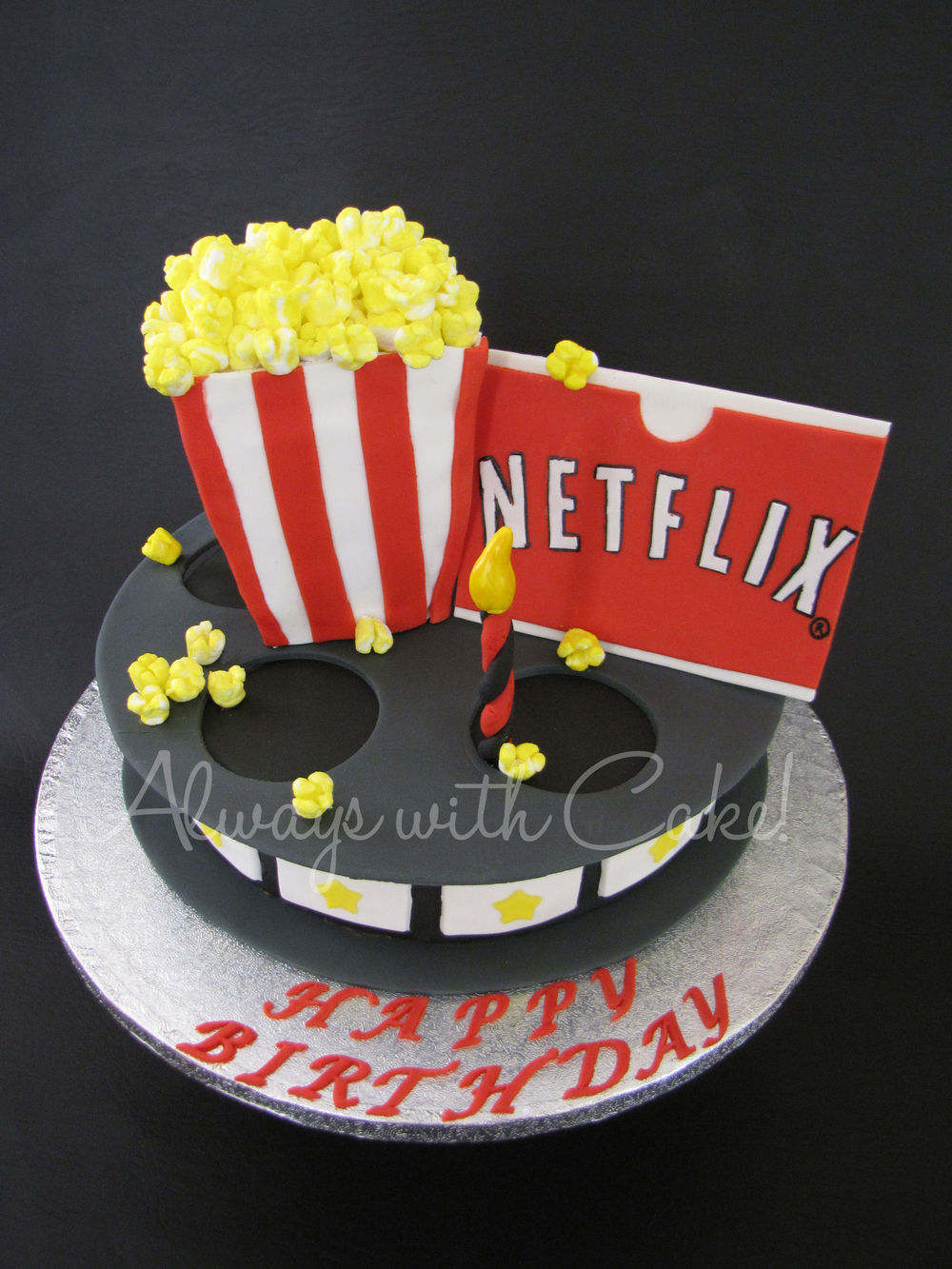 A night for a movie Birthday Cake