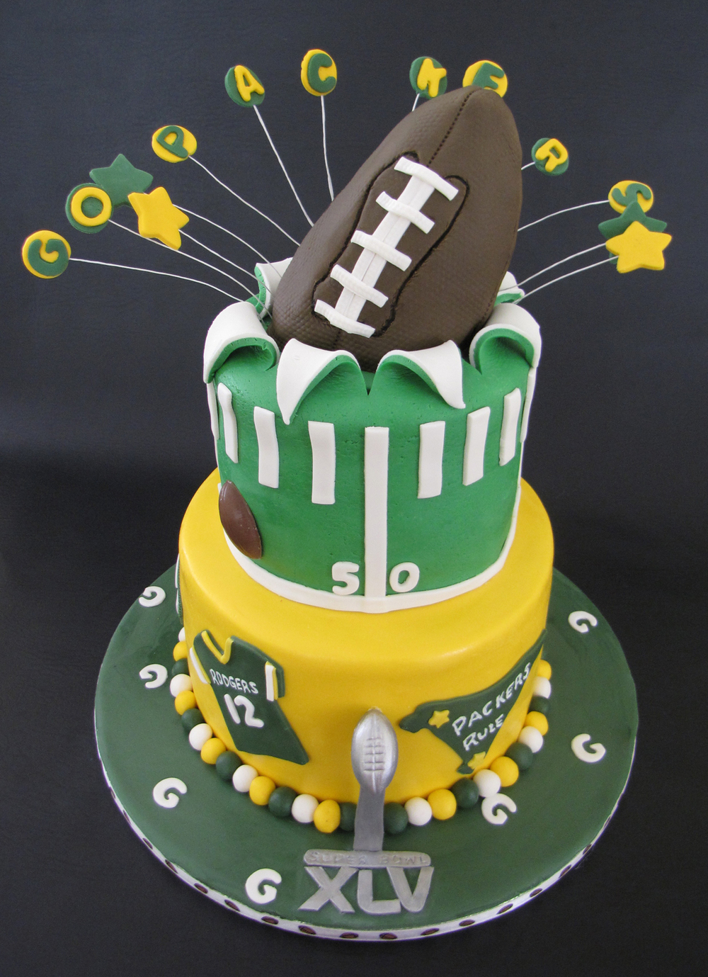 Green Bay Packers SuperBowl Cake