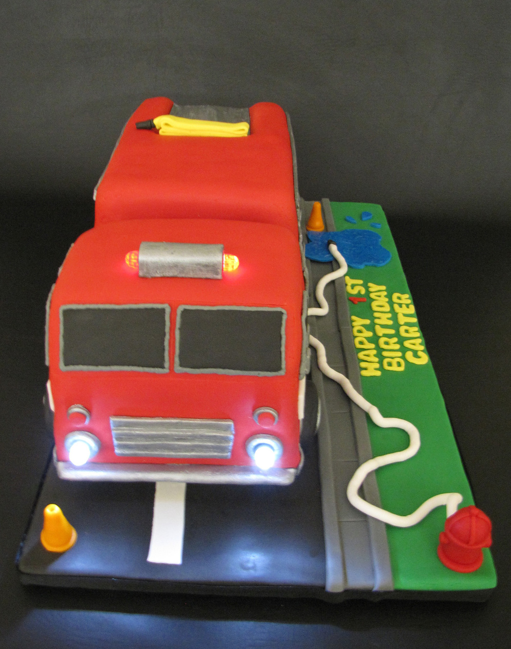 Working lights on Fire Engine