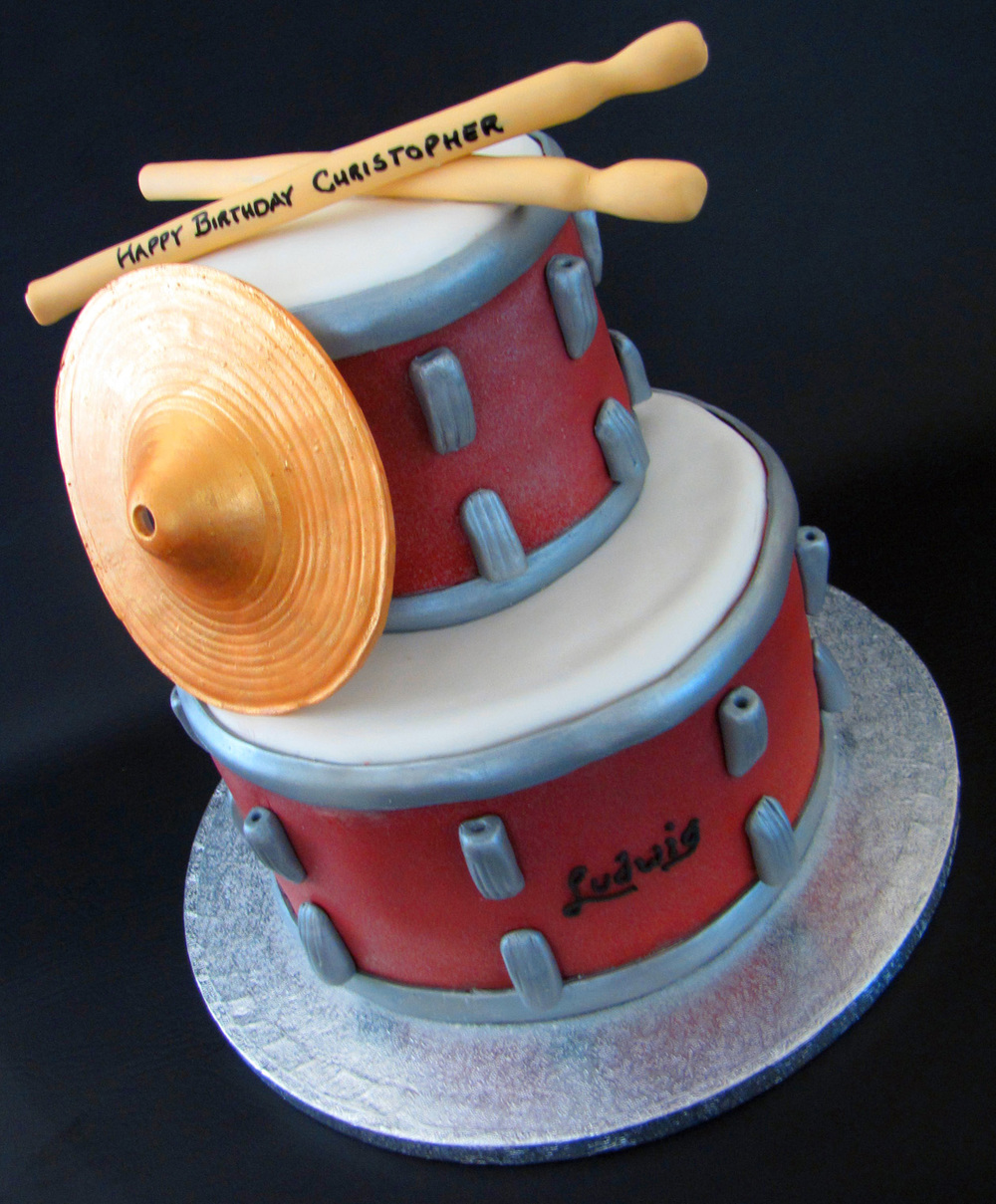 It's all about the Drums Birthday Cake