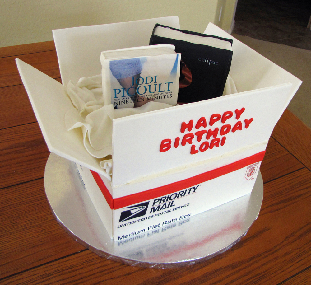 Priority Mail Book Reading Birthday Cake