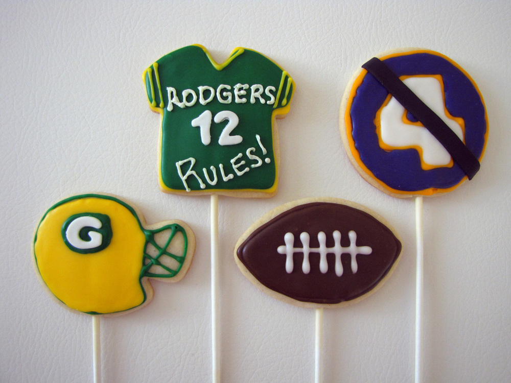 Green Bay Packers Cookie Pops
