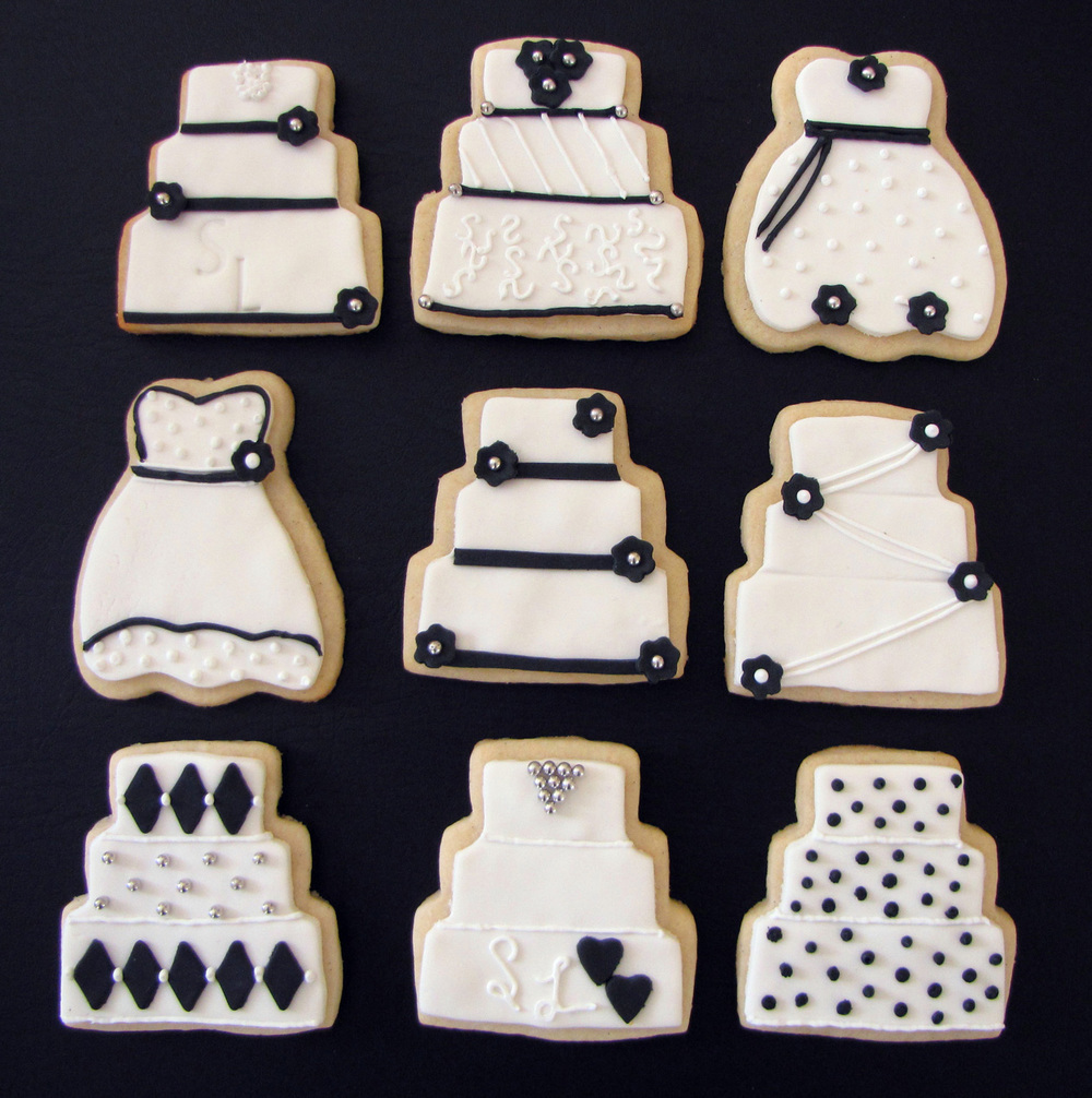 Wedding Cake's & Wedding Dress Cookies