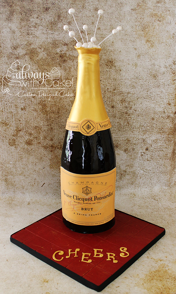 Champagne Bottle Celebration Cake