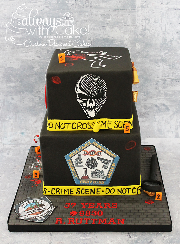 Crime Scene Retirement Cake