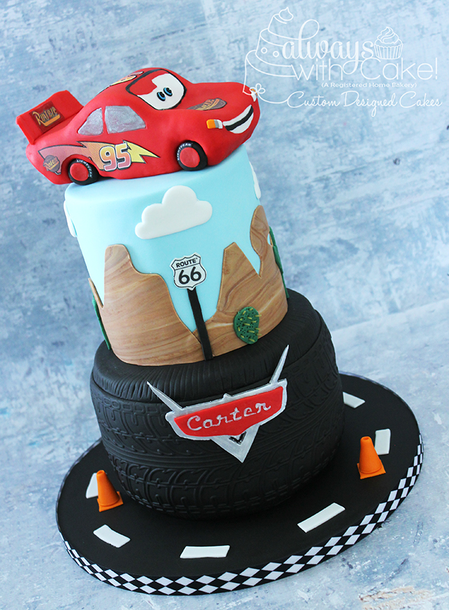 Cars - Lightning McQeen themed Birthday Cake