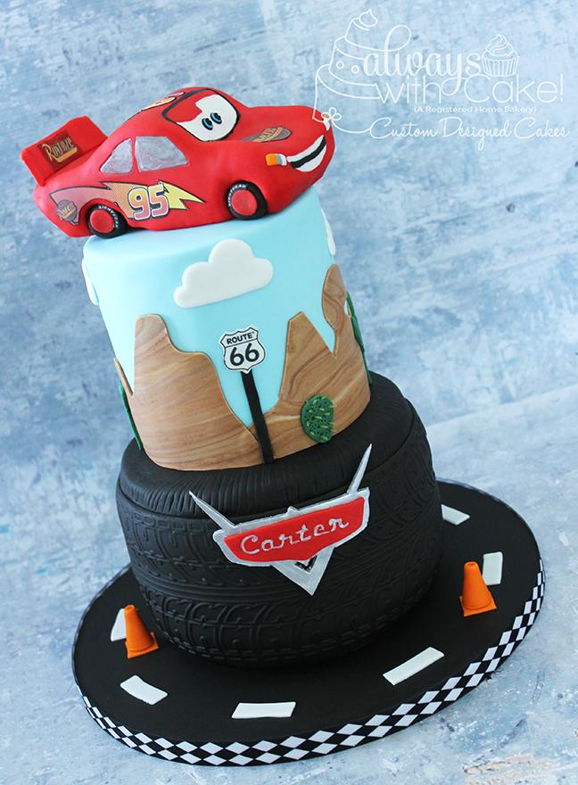 Cars - Lightning McQeen themed Birthday Cake