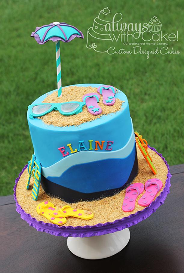 Beach - Flip Flop Birthday Cake